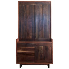 Lenox Pantry, Hutch Featuring Solid Hardwood and Brass Hardware