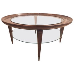Ponti Style Round Two-Tiered Coffee Table