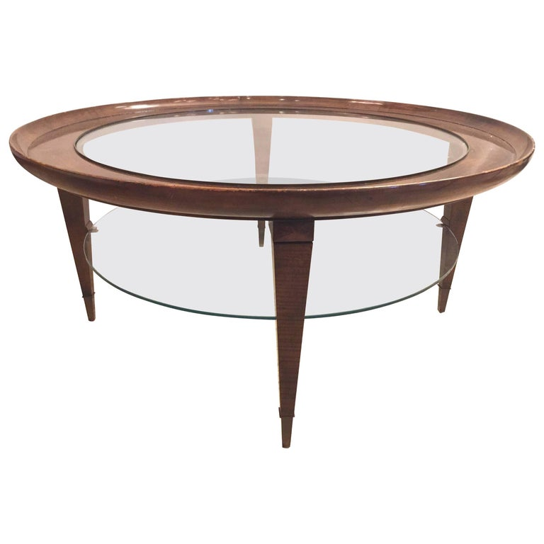Astonishing Ponti Style Round Two Tiered Coffee Table Ocoug Best Dining Table And Chair Ideas Images Ocougorg