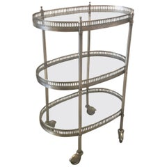 Small Three-Tiered Drinks Beverage Cart