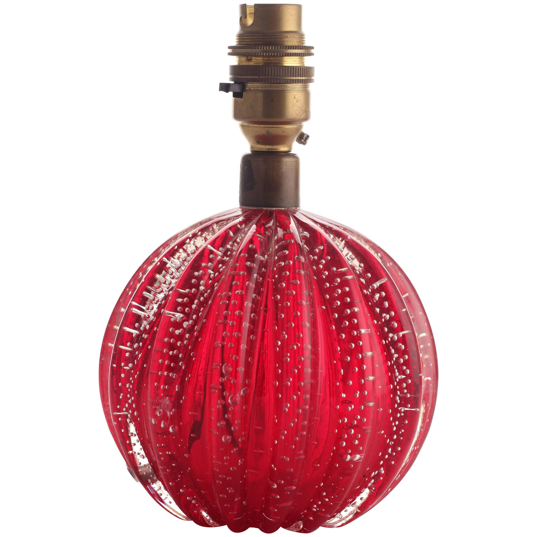 Glass Ball Murano Table Lamp Mid-Century Modern
