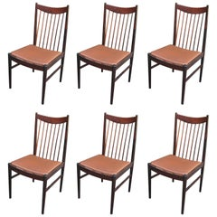 Set of Six Rosewood Dining Chairs by Arne Vodder for Sibast