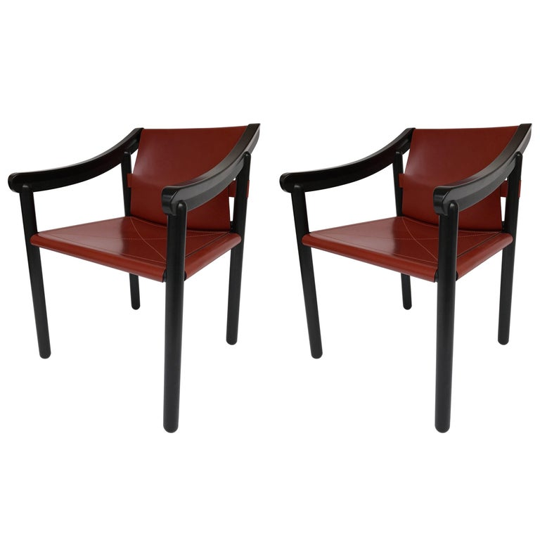 Pair of Armchairs by Vico Magistretti for Cassina, Italy, 1980s For Sale