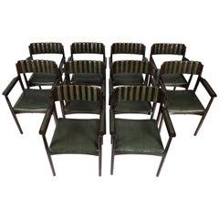 Set of Six Art Deco Armchairs
