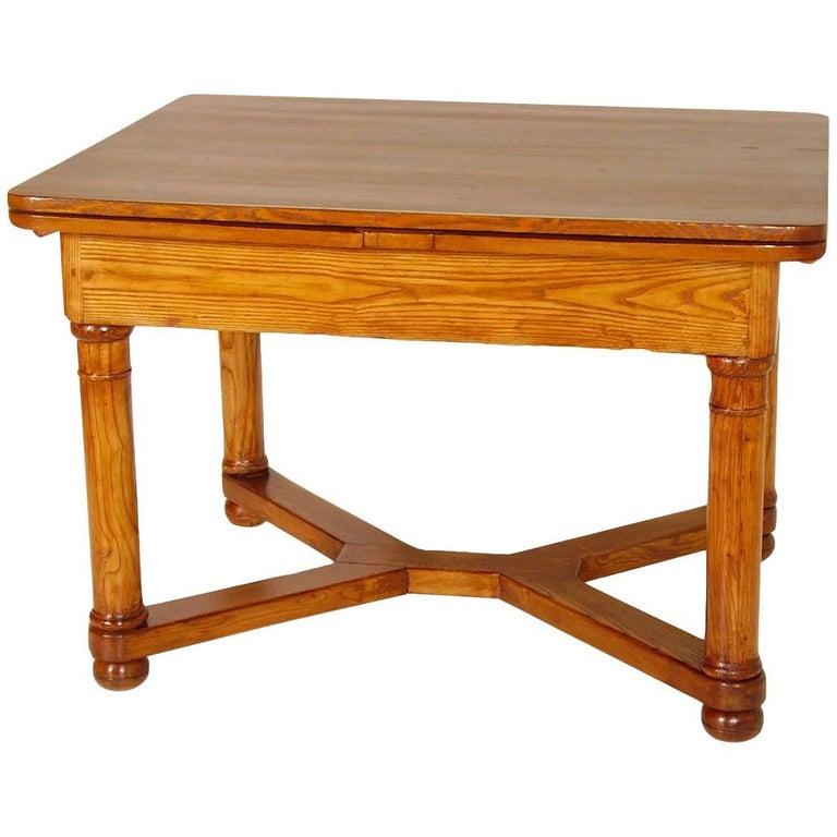 Last 19th Century Austrian Biedermeier Tyrolean Extending Table For Sale