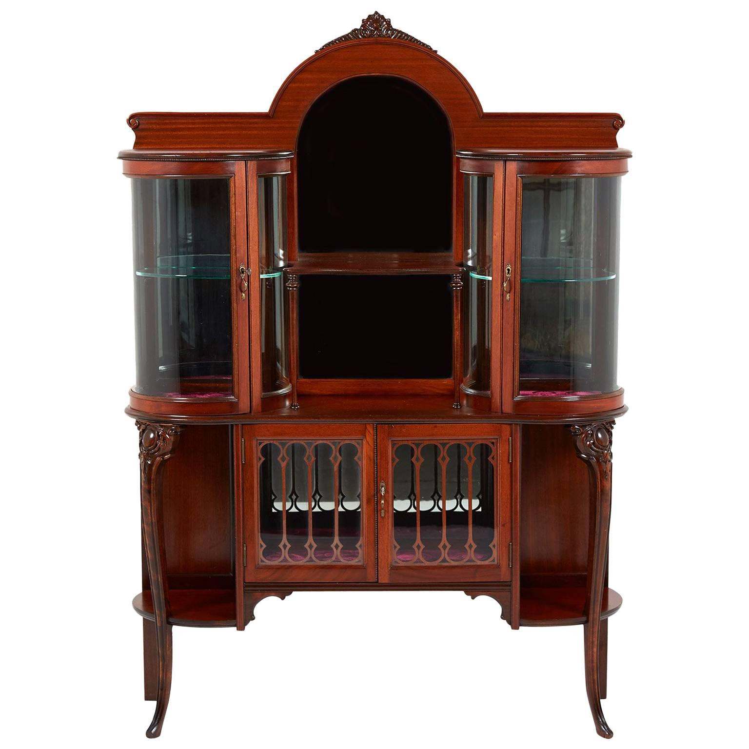 Curved Glass Display Cabinets - 19 For Sale on 1stdibs