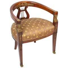 Empire Style Gilt Bronze-Mounted Armchair