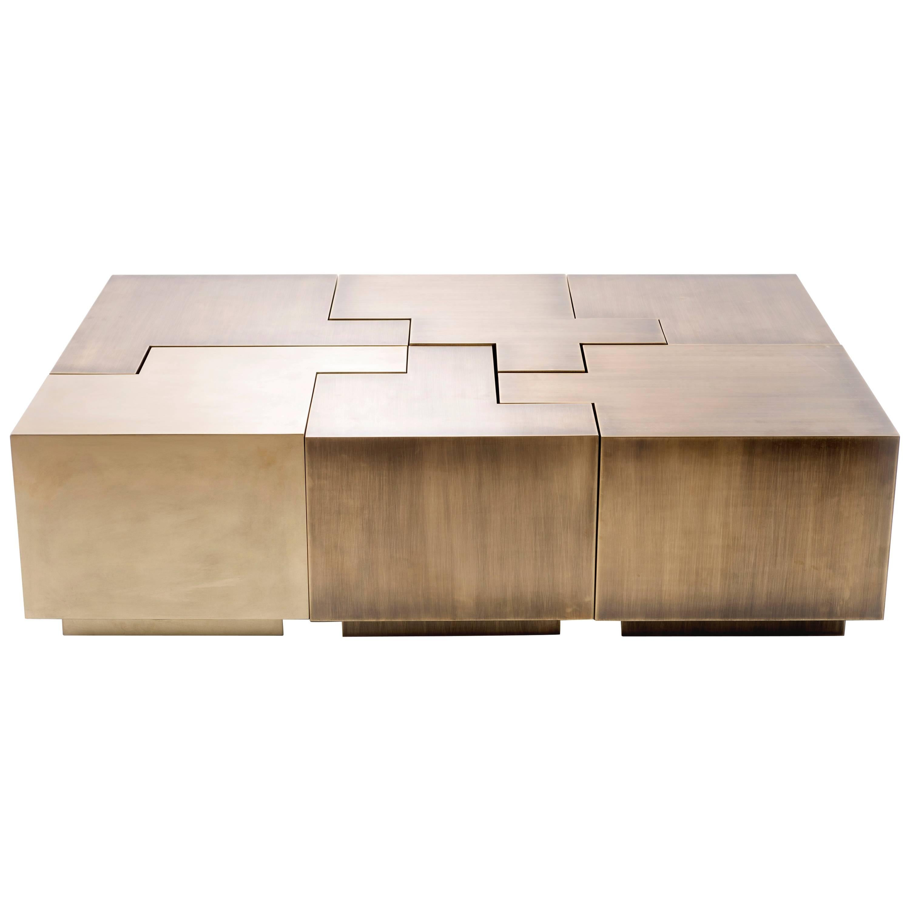 Contemporary Puzzle Coffee Table By Gulla Johnsdottir For Sale