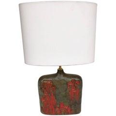 Bottle Ceramic Lamp by Marcello Fantoni, Italy, 1970s