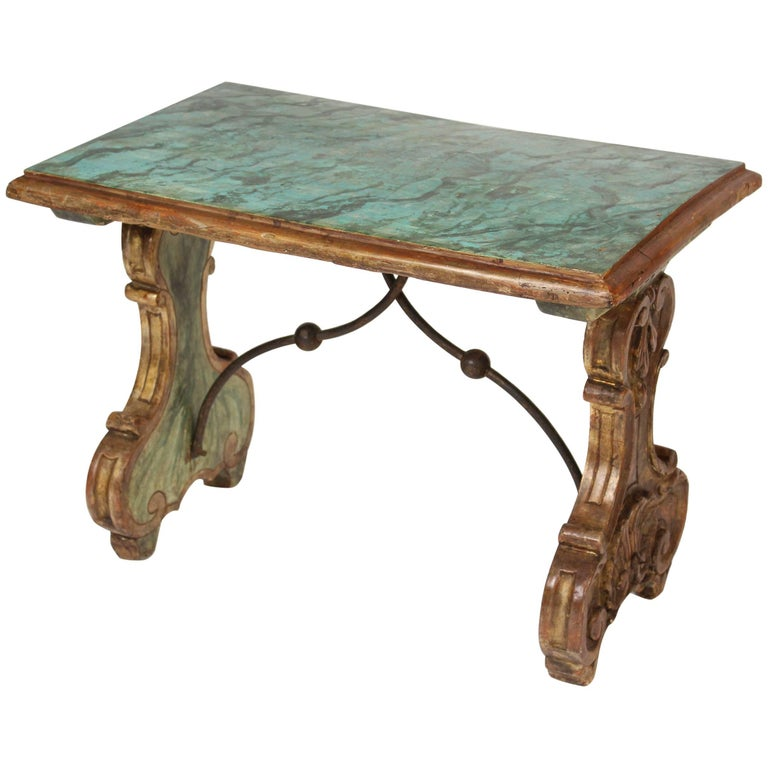 Baroque Style Painted and Partial-Gilt Occasional Table