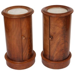 Matched Pair of Cylinder Commodes