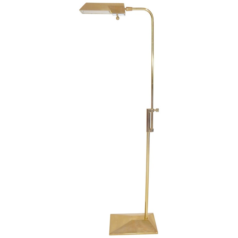 Mid Century Brass Stiffel Adjustable Floor Lamp