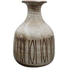 Midcentury Ceramic Vase by Jacques Pouchain, Dieulefit, France, circa 1960s