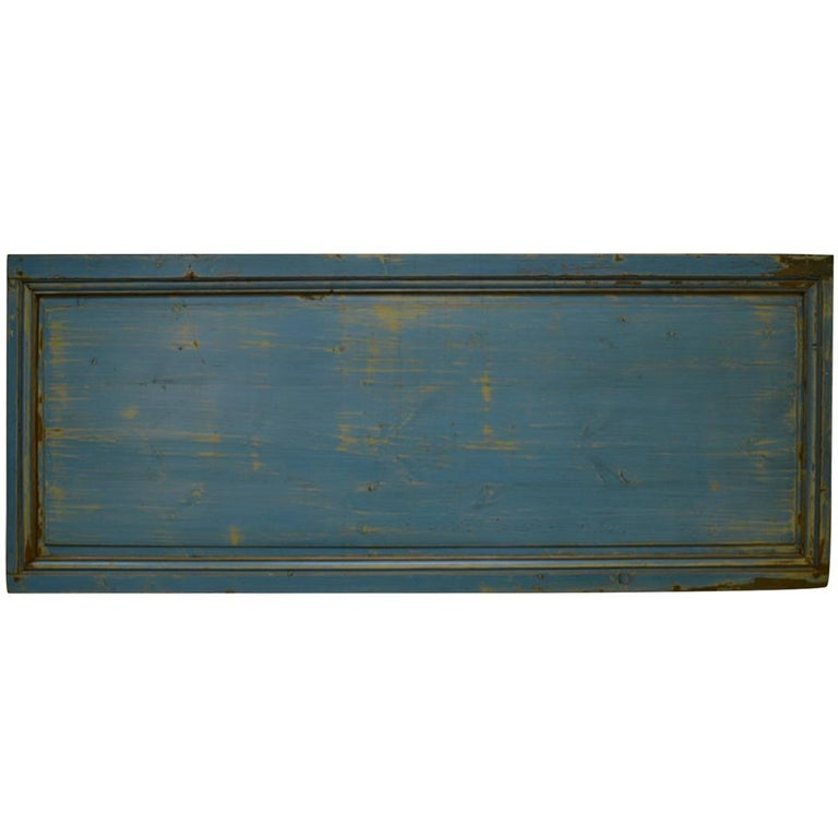 Pine Queen-Size Headboard from 19th Century Panel