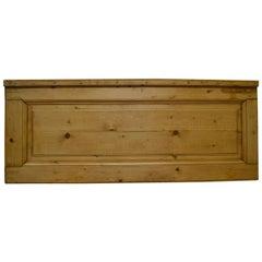 Pine Queen-Size Headboard from 19th Century Interior Door