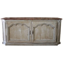 19th Century Country French Style Painted Cupboard Cabinet Buffet