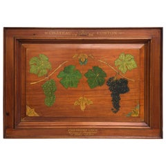 Chateau Corton Mahogany Wine Cellar Hand-Painted Sign, circa 1926