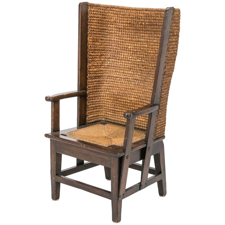 Antique Rush Chair, Scottish Orkney