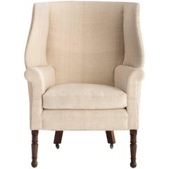 Regency Barrel Back Wing Chair, circa 1830