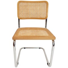 Pair of Marcel Breuer Cesca Chair Cane and Chrome