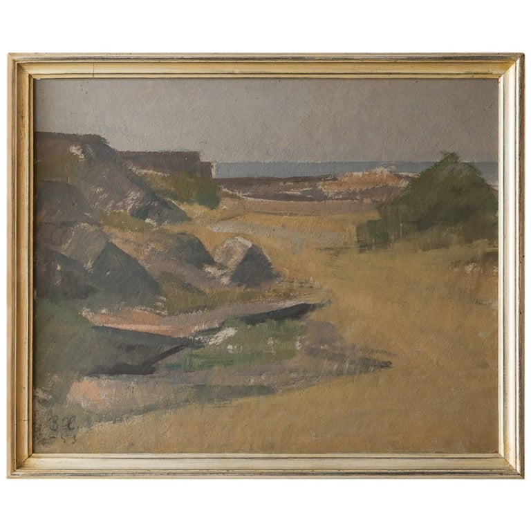 Vintage Landscape Painting by the Sea 1