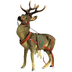 Early 20th Century German Clockwork Toy Reindeer