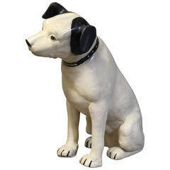 His Masters Voice Large Store Display Paper Mache 'Nipper' Dog