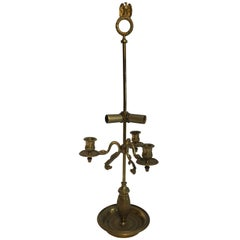 French Antique Brass Candelabra Converted into a Table Lamp