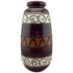 Extra Large Mid-Century Modern West German Glazed Ceramic Floor Vase