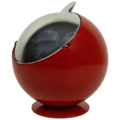 Small Red Smokny Spherical Ashtray from F.W. Quist, Germany, 1970s