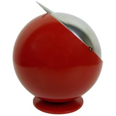 Large Red Smokny Spherical Ashtray from F.W. Quist, Germany, 1970s