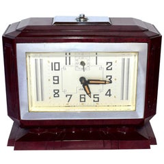 Large French Art Deco Bakelite Clock
