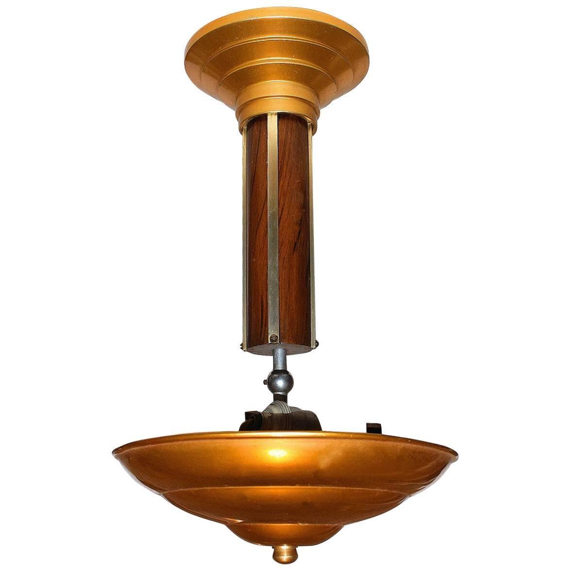 1930s Art Deco French Ceiling Light