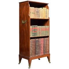 Georgian Style Mahogany Campaign Bookcase