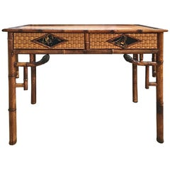 Beautiful Bamboo Writing Desk, France, 1920