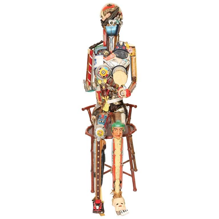 Leo Sewell Seated Female Figure Sculpture