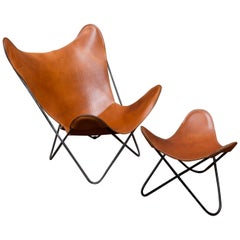 Butterfly Lounge Chair and Ottoman for Knoll
