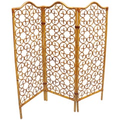 French Rattan Room Divider, circa 1960s