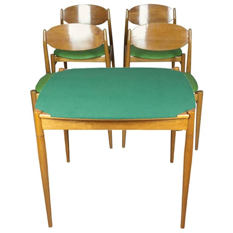 Gio Ponti Game Table and Four Chairs by ISA