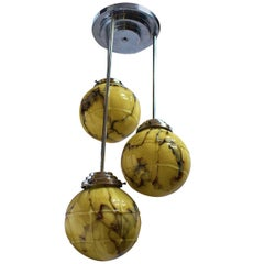 1930s English Modernist Art Deco Ceiling Light
