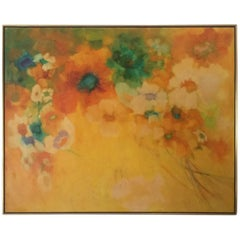 Florence Hasenflug Oil Painting on Canvas, 1970s