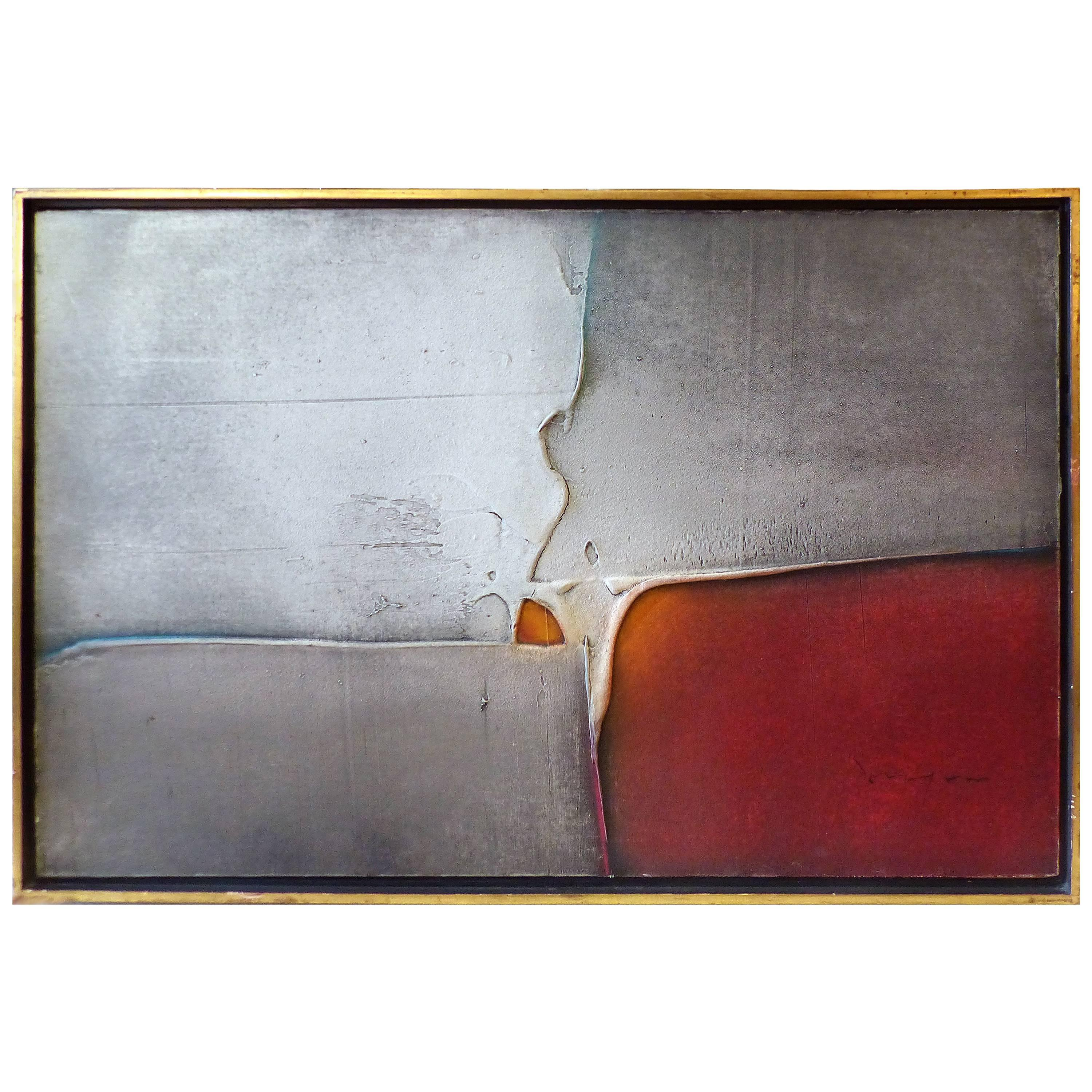 Abstract Oil on Canvas by Louis Moyano 'Chile 1929-Paris 1965'