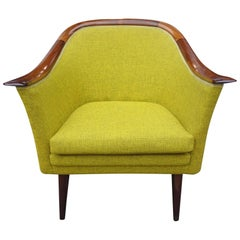 Midcentury Club Chair by Fredrik Kayser for Vatne