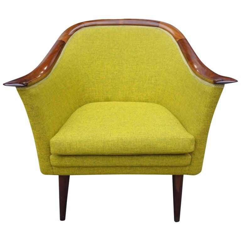 Midcentury Club Chair by Fredrik Kayser for Vatne