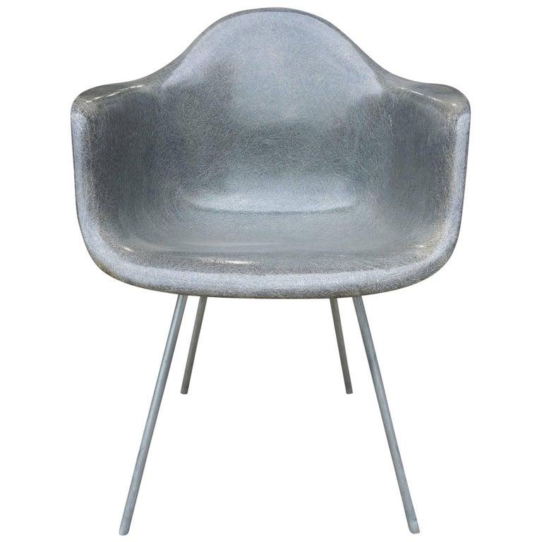 Midcentury Eames for Herman Miller Fiberglass Armchair Rope Edge