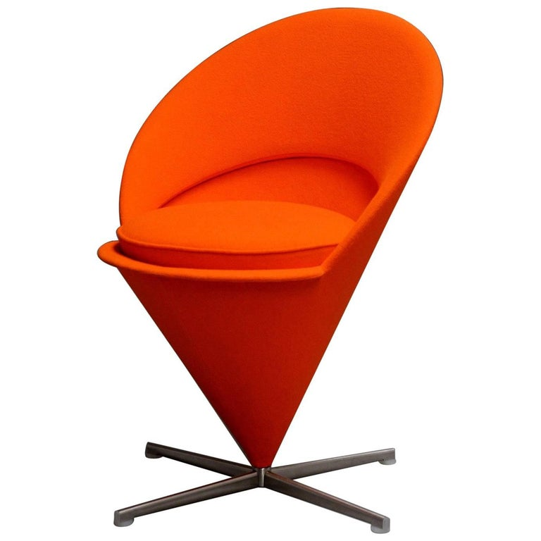 cone chair by verner panton vitra design museum for sale at 1stdibs. Black Bedroom Furniture Sets. Home Design Ideas