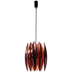 Copper Kastor Pendant by Jo Hammerborg for Fog & Mørup, Denmark, 1960s