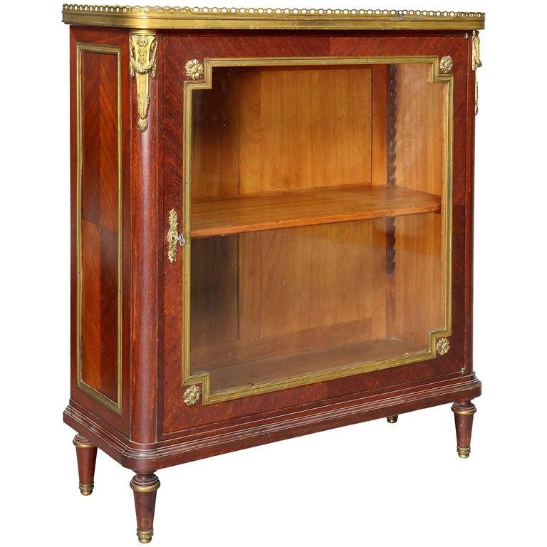 Louis XVI Style Tulipwood and Ormolu-Mounted Petit Cabinet
