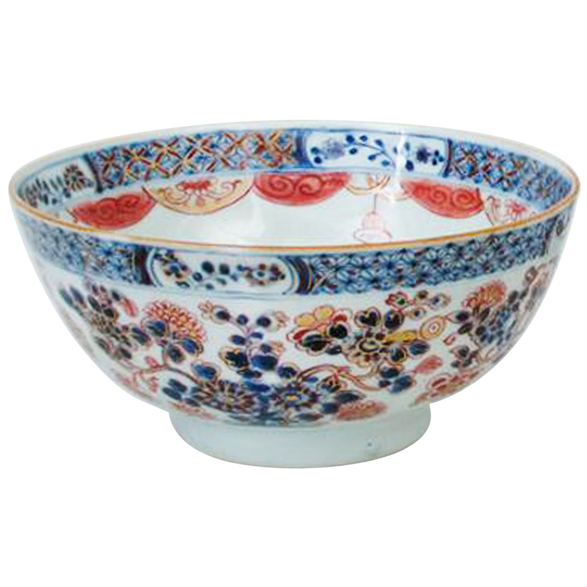 Dutch Decorated Chinese Export Imari Porcelain Bowl, circa 1770