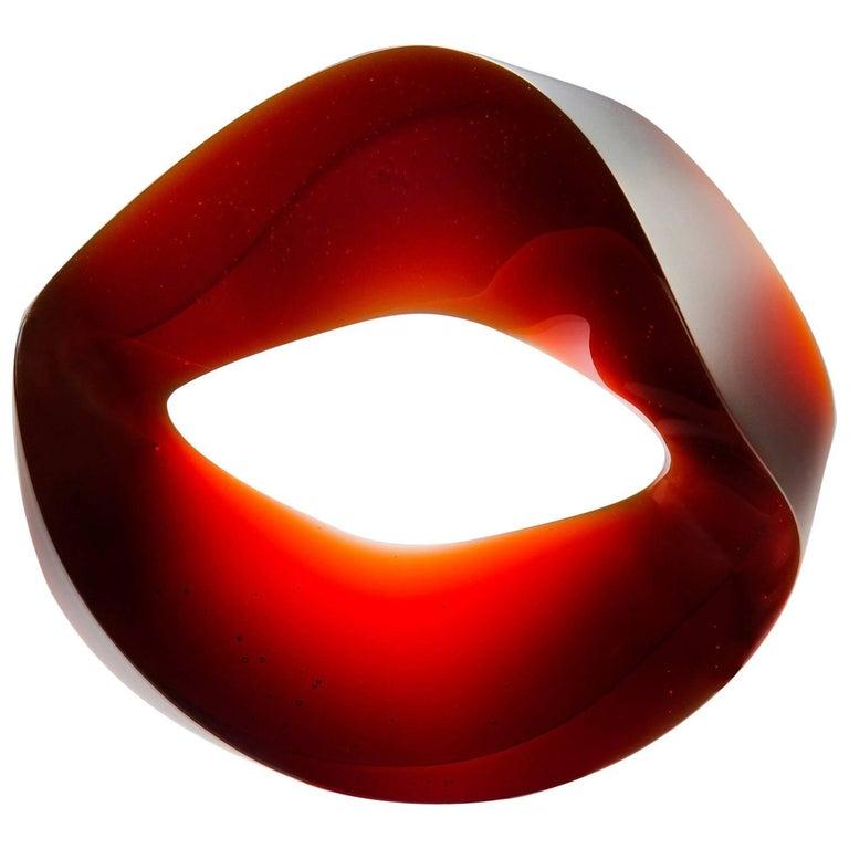Unique Glass Sculpture by Heike Brachlow